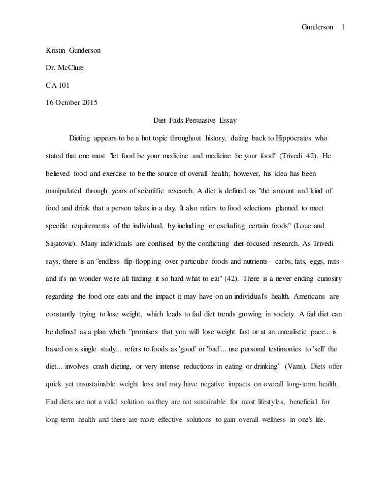 Persuasive essay eating disorders