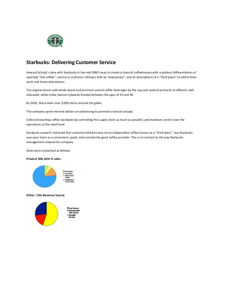 starbucks delivering customer service case study analysis how to write a high school research paper