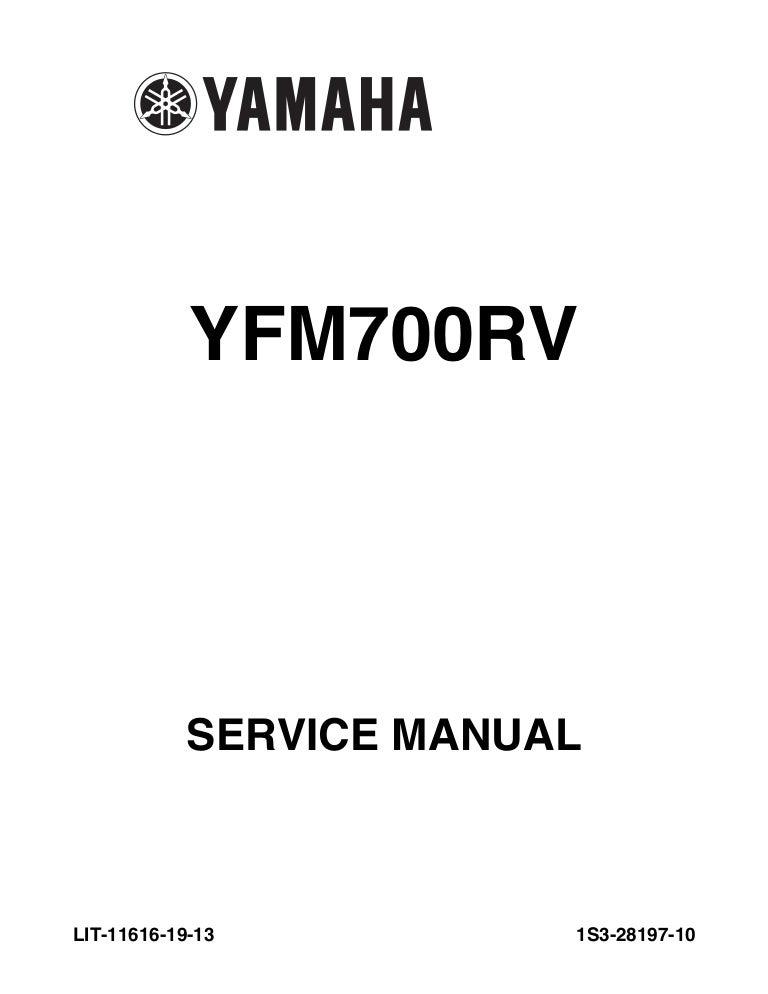 765 1223 raptor 700 service manual rh slideshare net 2006 yamaha raptor 700 repair manual pdf Yamaha Raptor 700 OEM Parts