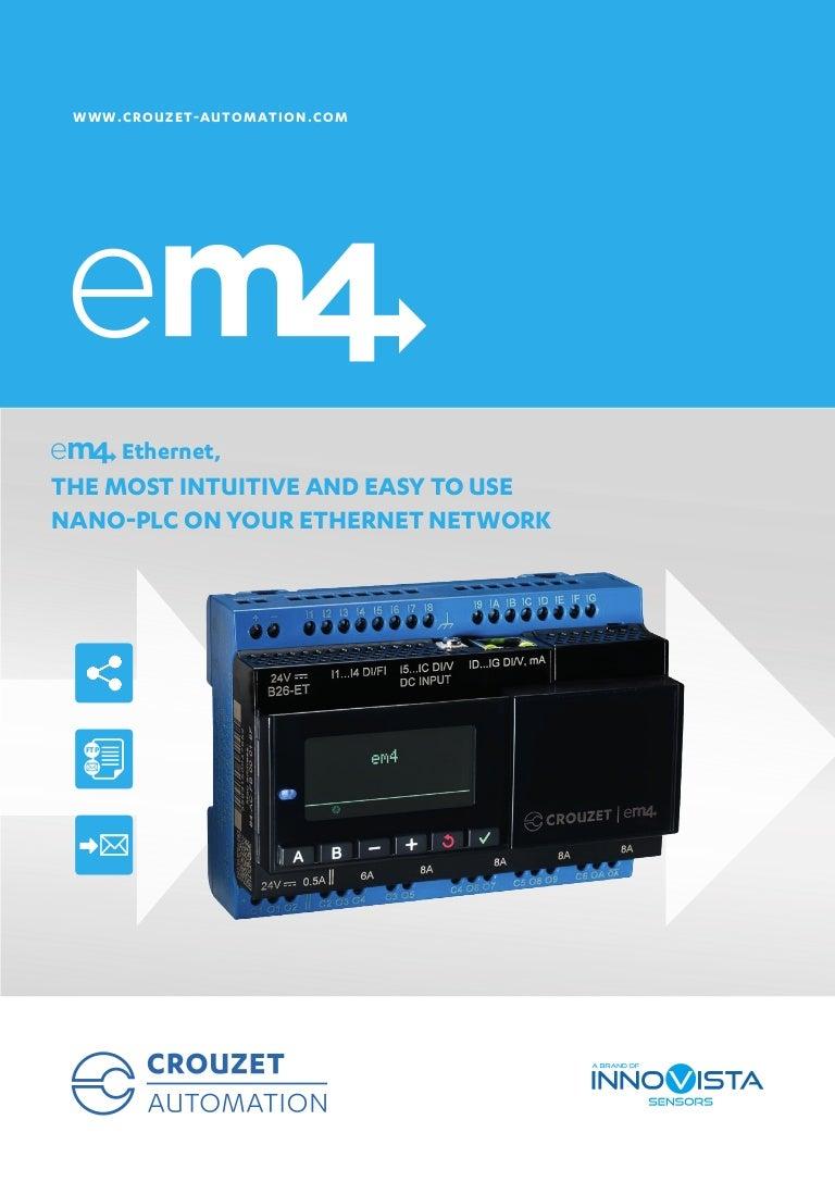 Crouzet Automation - em4 Ethernet brochure, English Version