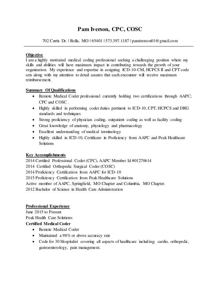 Medical Coding Specialist Resume Sample LiveCareer Duupi Dock Worker Cover  Letter Cover Letter Paragraph Resume Resume