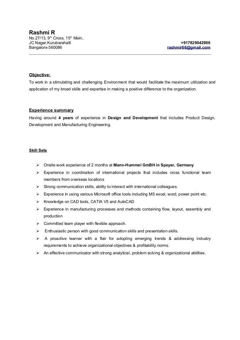 rashmi resume