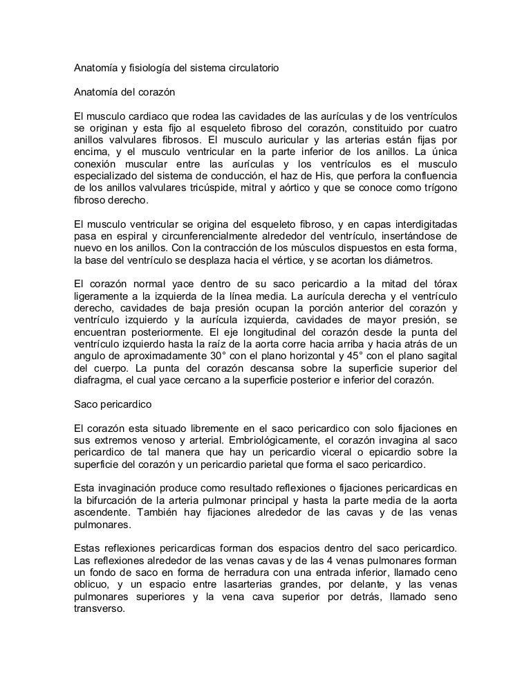 Contemporáneo Anatomía Y Fisiología Del Sistema Cardiovascular ...