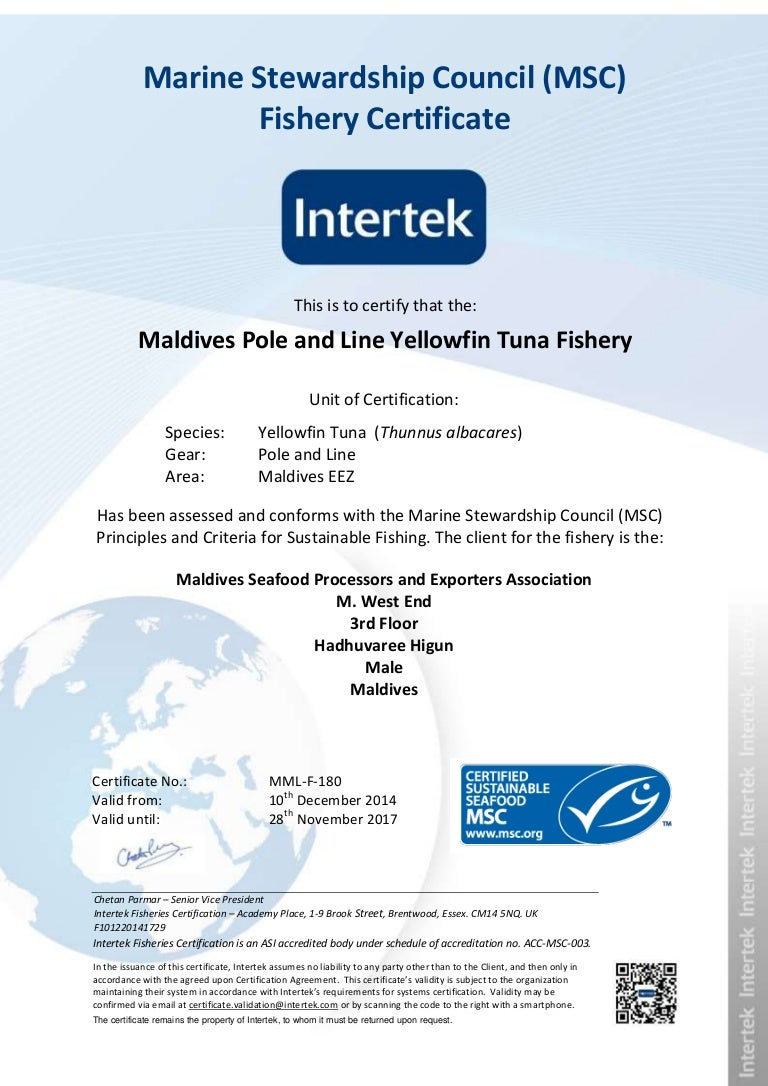 Maldives yellow fin msc certification xflitez Choice Image