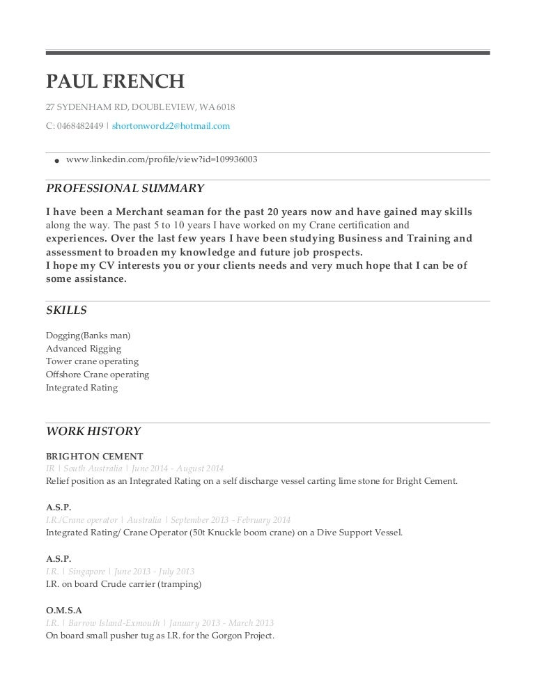 paul french resume 1