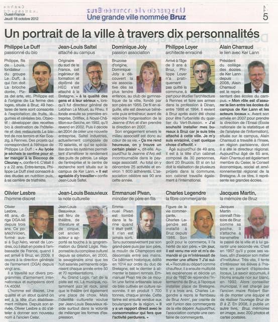 Ouest France - supplément - portrait sur la ville de bruz