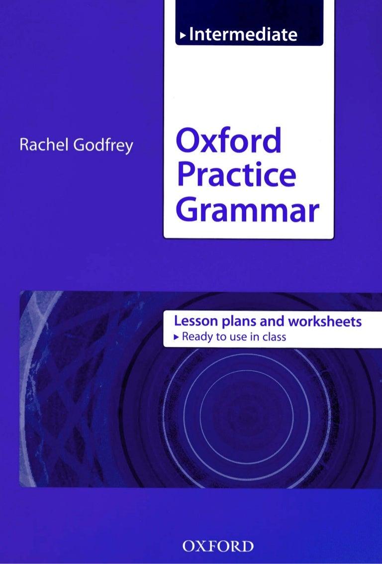 Oxford Practice Grammar Intermediate Lesson Plans Worksheets