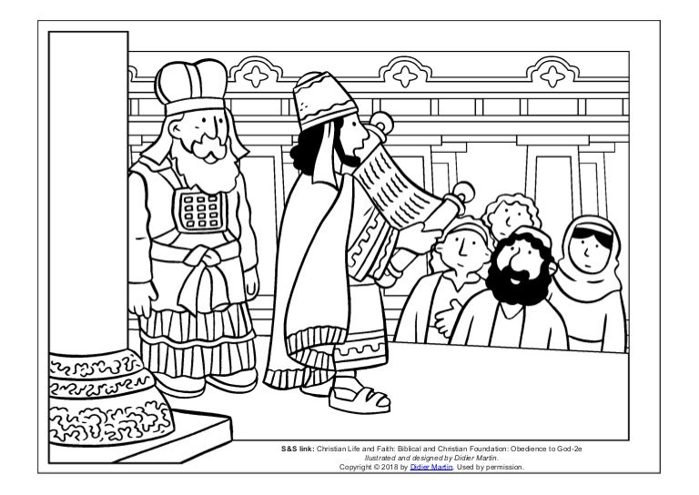 Coloring Page: Young People in the Bible: King Josiah