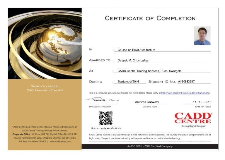 certificate cadd center hypermesh centre training revit slideshare