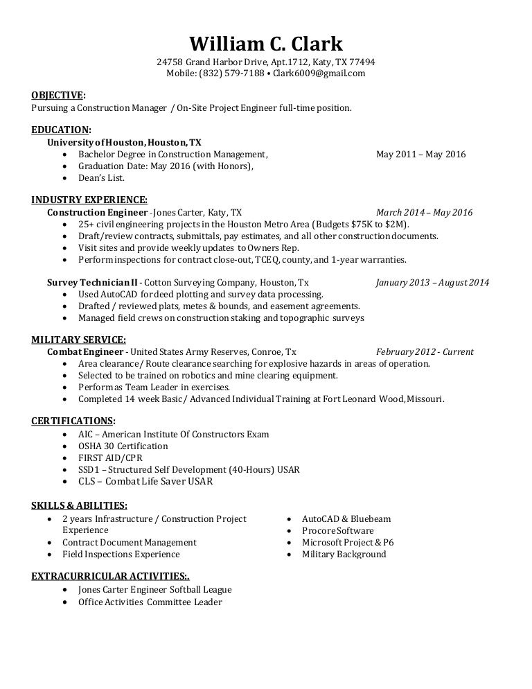 William Clark Resume
