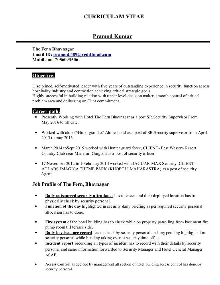 ResumePramod