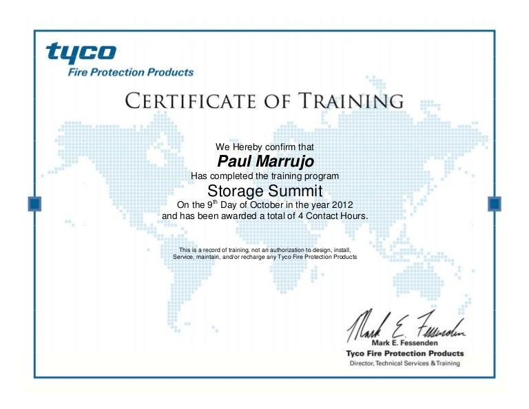 Paul Marrujo - Tyco Storage Summit