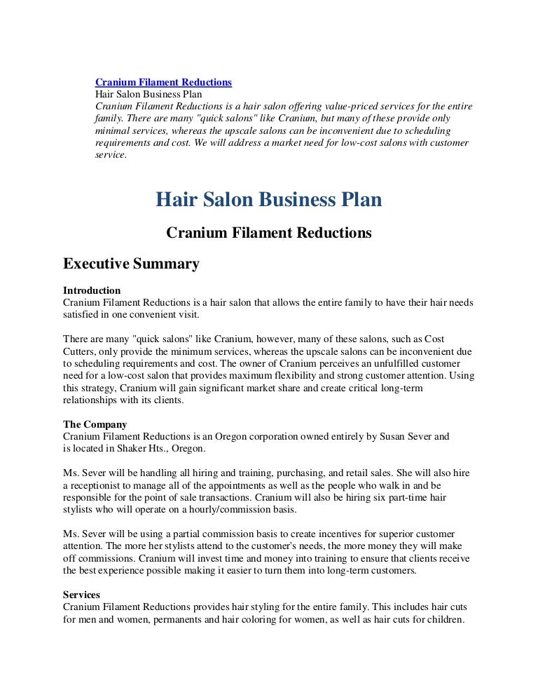 Hair salons business plan boatremyeaton 79742553 business plan hairl salon wajeb Image collections