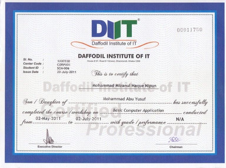DIIT Computer Certificate