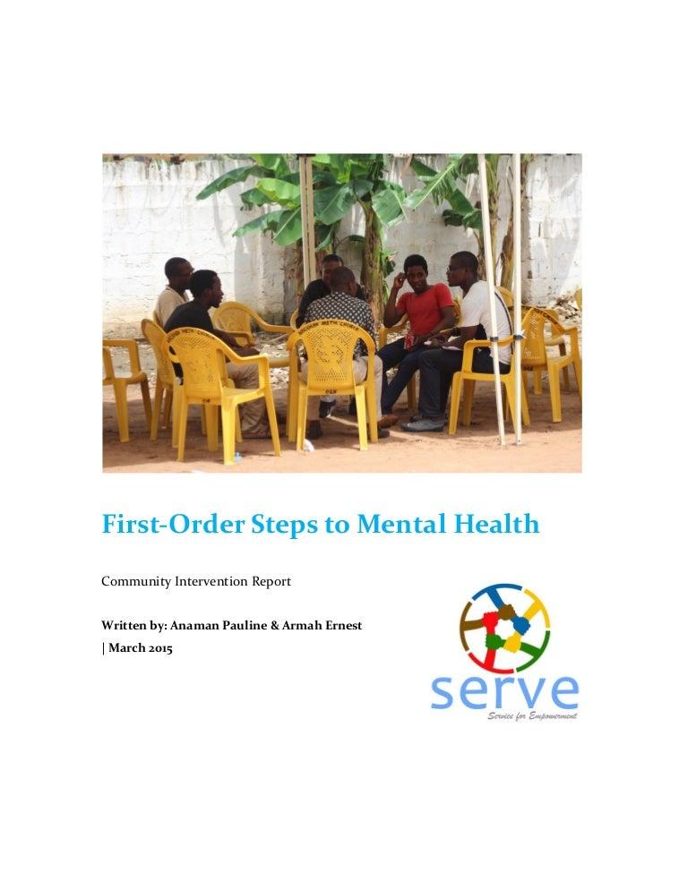 mental health project report
