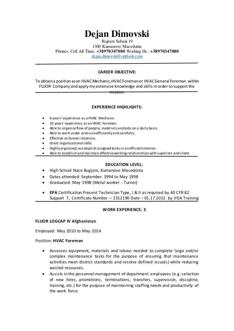 Dejan dimovski resume fluor xflitez Choice Image