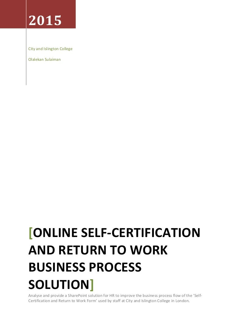 Sharepoint online self certification and return to work business proc xflitez Choice Image