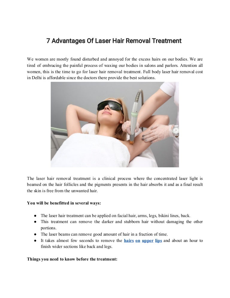 7 Advantages Of Laser Hair Removal Treatment