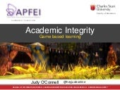 Game-based learning and academic integrity