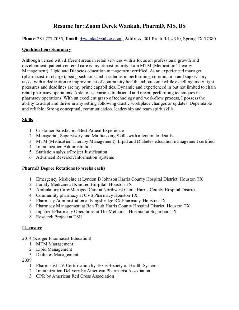 mtm pharmacist sample resume pharmacist resume objective