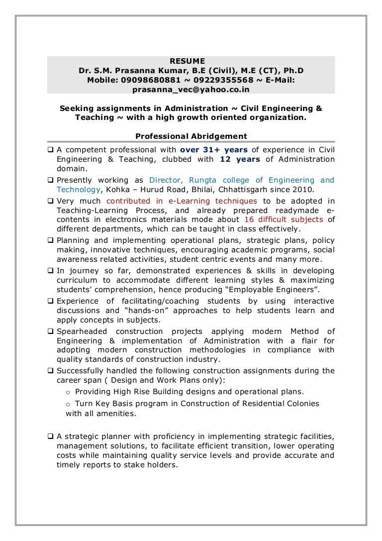 B Resume Dr prasanna kumar