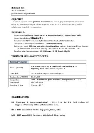awesome qlikview developer resume photos simple resume office