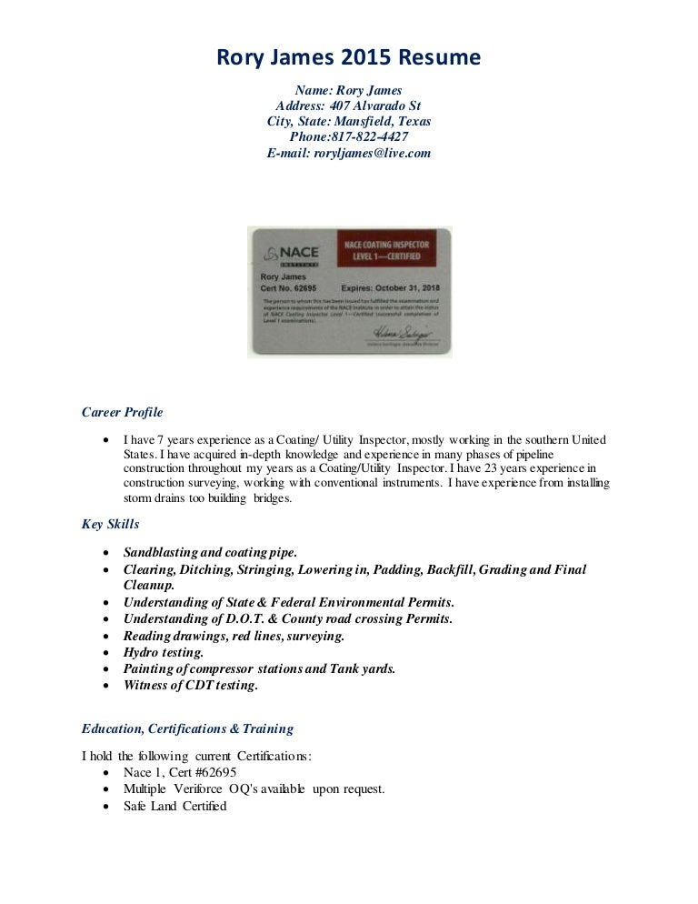 Painting Coating Inspector Resume - Most Popular Coat 2017