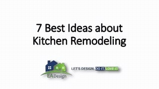 7 best ideas about kitchen remodeling