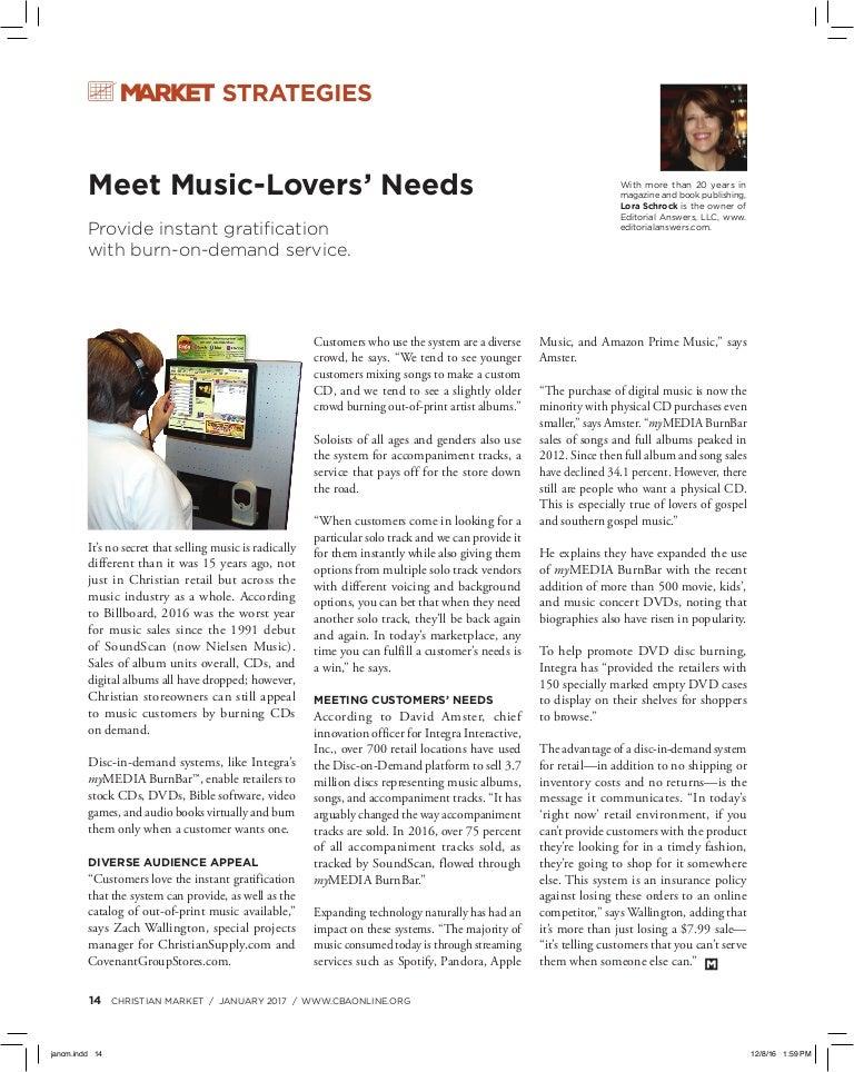 Meet Music Lover's needs
