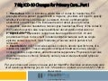 7 Big ICD-10 Changes for Primary Care Part I