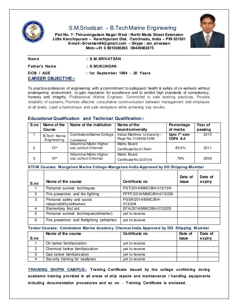 SRIVATSAN CV - Marine Engineering - REVISED