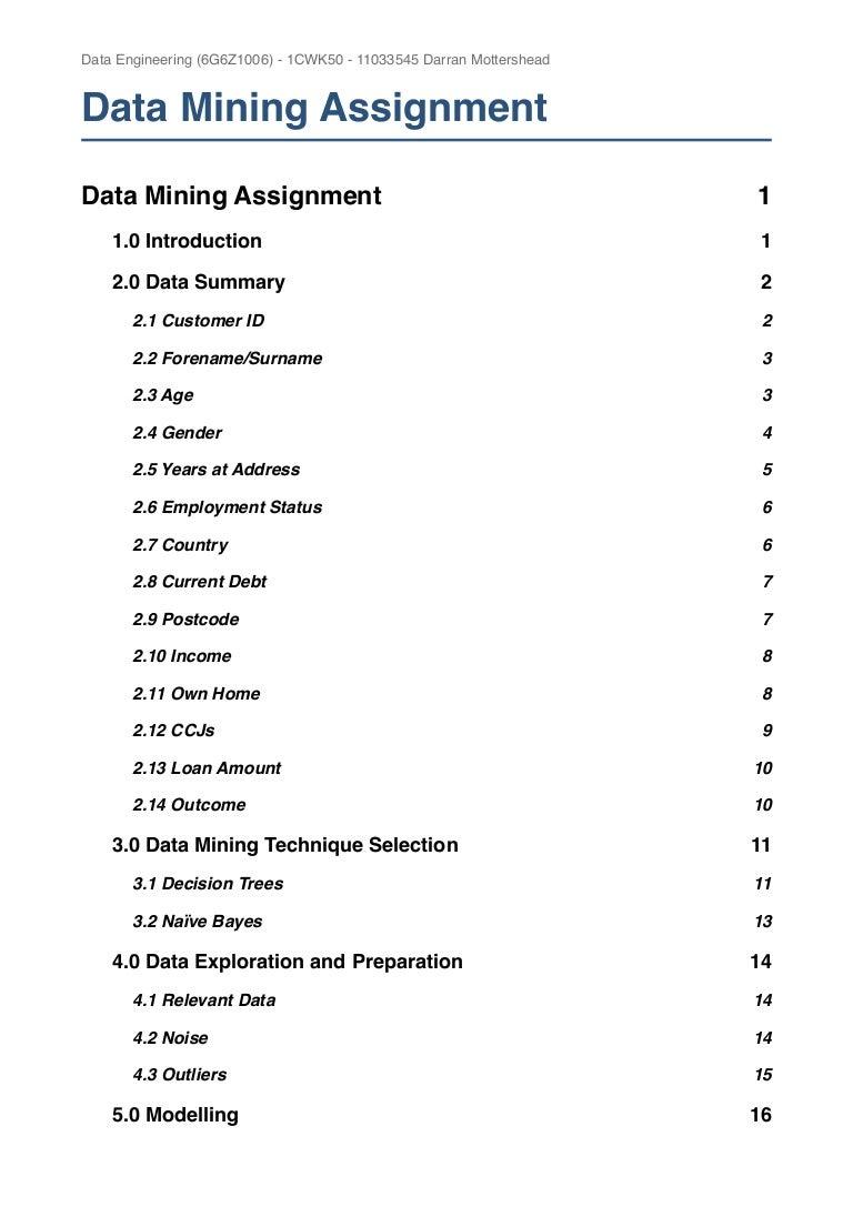 data mining homework solution