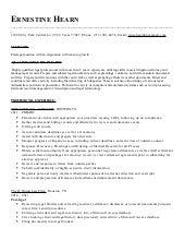 Big 4 tax senior resume