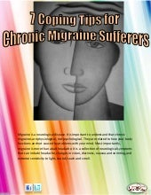 7 coping tips for chronic migraine sufferers