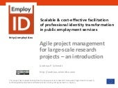 Agile Project Management for Large-Scale Research Projects - An Introduction