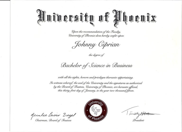 Bachelor degree of