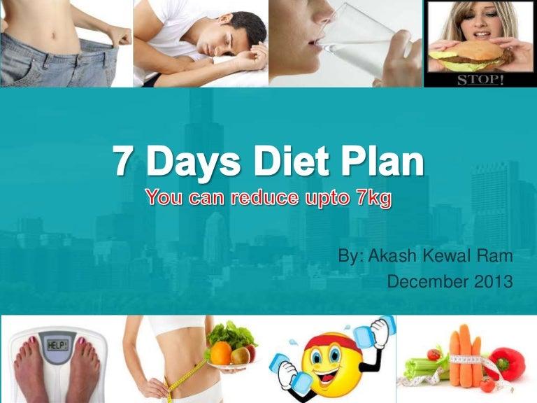 7 days diet plan to reduce upto 7kg weight ccuart Gallery