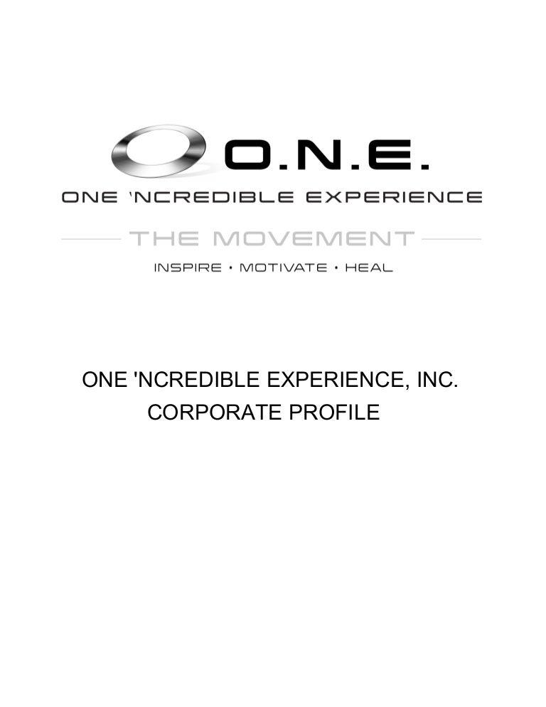 O N E  Inc Corporate Profile 01-2012