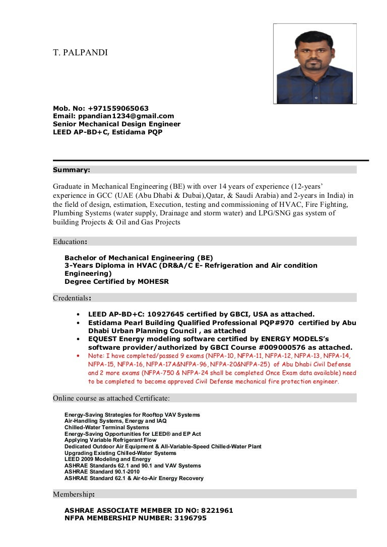 Palpandi updated cvsenior mechanical engineer 1betcityfo Gallery