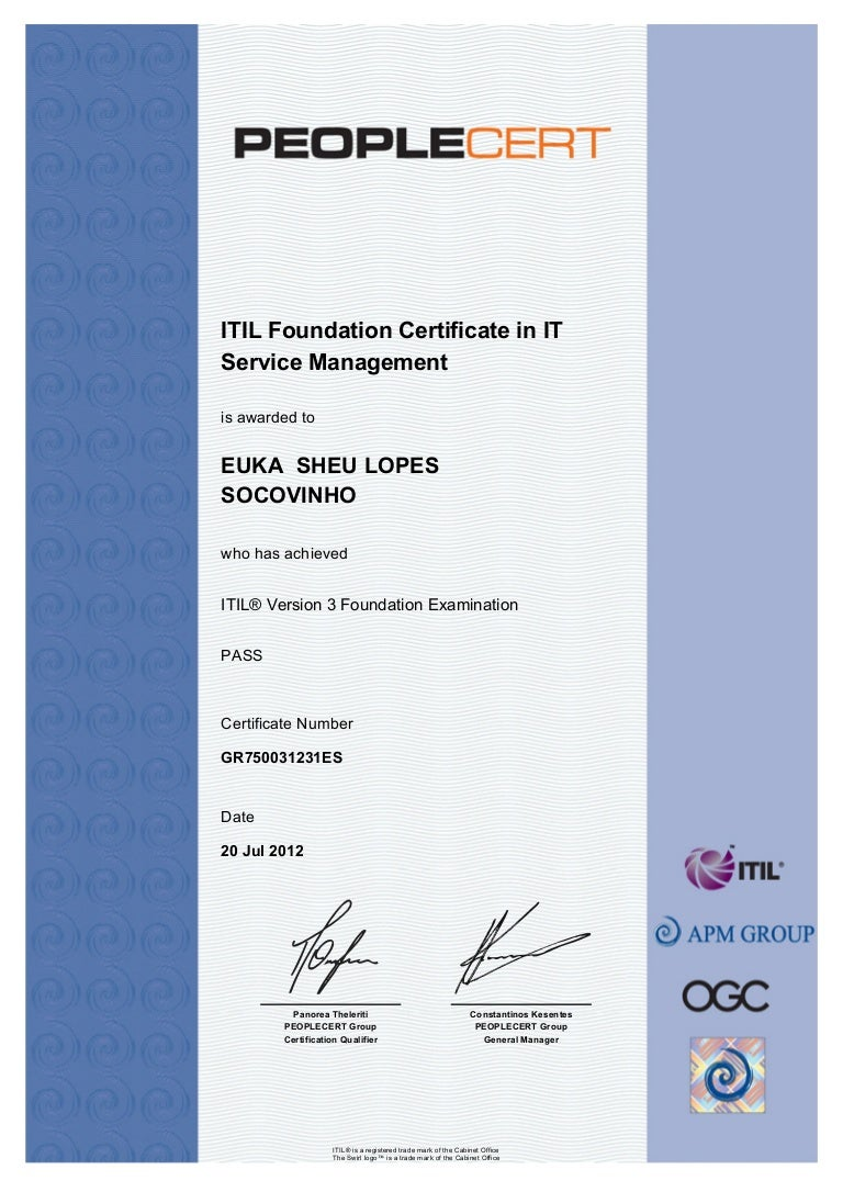 Itil certificate 1betcityfo Image collections