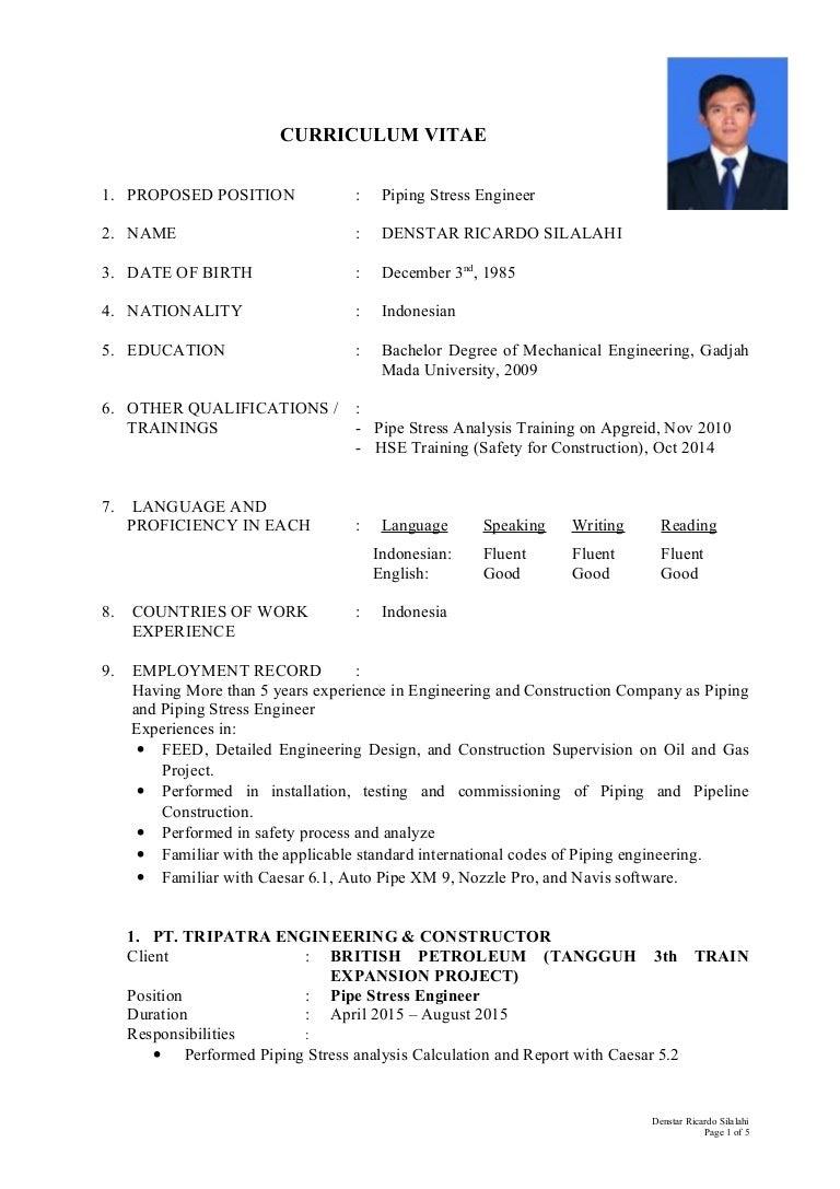 process engineer sample resume stress engineer sample resumeml denstar ricardo silalahi - It Process Engineer Sample Resume