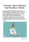Fantastic Tips to Optimize WordPress Website