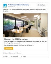 PGE Year of the LED_Facebook Ads