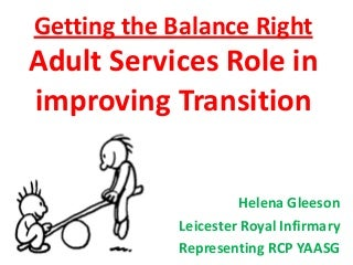 Getting the balance right helena gleeson