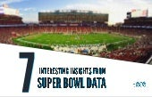 7 interesting insights from Super Bowl data