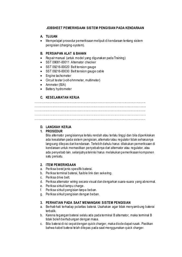 Jobsheet Pemeriksaan Sistem Pengisian Pada Kendaraan Jelaskan Cara Memeriksa Wiring 7jobsheetpemeriksaansistempengisianpadakendaraan 141125151551 Conversion Gate02 Thumbnail 4cb1416928960