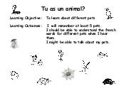 7j R2  Lessons    Tu As Un Animal
