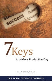 7 Keys To A More Productive Day