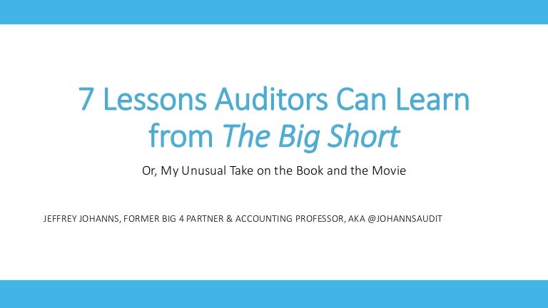 7 Lessons Auditors Can Learn from The Big Short