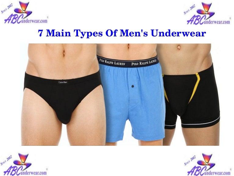 7 Main Types Of Men S Underwear